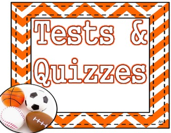 Sports Theme - Tests and Quizzes Poster
