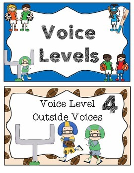 Sports Theme -  Voice Level Chart