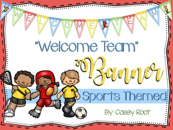 "Sports Theme ""Welcome Team"" Banner"