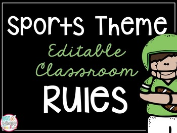 Sports Theme Classroom Rules *EDITABLE*