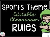 Sports Theme Classroom Rules *EDITABLE*