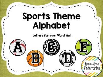 Sports Theme Word Wall Alphabet