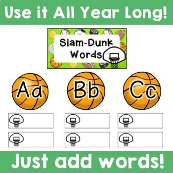 Sports Theme:  Word Wall (Editable)