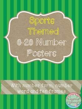Sports Themed 0-20 Numbers Posters