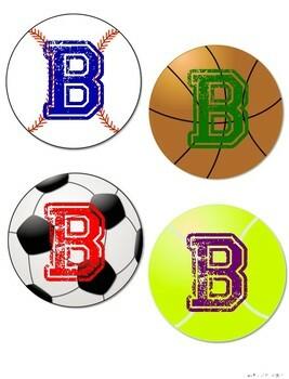 Sports Themed Alphabet Letters A-Z