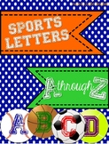 Sports Themed Alphabet Letters A-Z