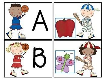 Sports Themed Alphabet Match-Up