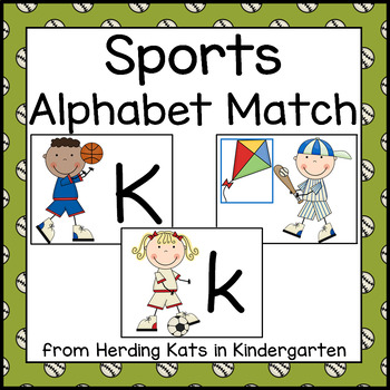 Sports Themed Alphabet Match-Up