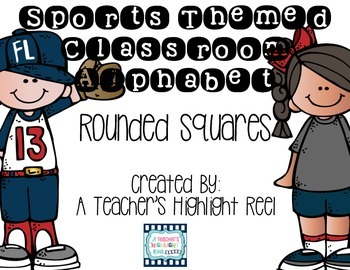 Sports Themed Alphabet - Melonheadz Rounded Square