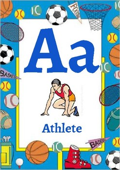 Classroom Decor-Sports Themed Alphabet Poster