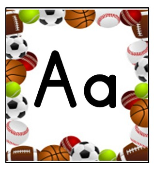 Sports Themed Alphabet and Numbers