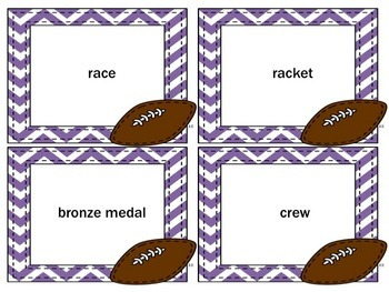 Sports-Themed Articulation Cards Initial /r/