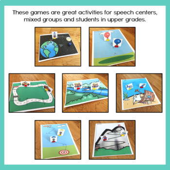 Sports Themed Articulation Dice Games