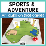 Sports and Adventure Articulation Dice Games