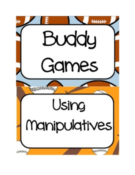 Sports Themed BUILD math center labels