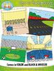 Sports Background Scenes Clipart {Zip-A-Dee-Doo-Dah Designs}