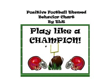 Sports Themed Behavior Chart