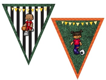 Sports Themed Behavior Chart *Mini Pennant Banner Chart Header* and Forms