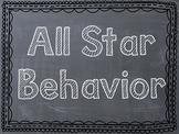 Sports Themed Behavior Clip Chart - Chevron/Chalkboard Frames - Option 3