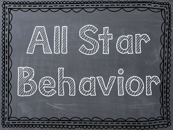 Sports Themed Behavior Clip Chart - Chevron/Chalkboard Frames - Reverse Colors