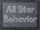 Sports Themed Behavior Clip Chart with Geometric Background