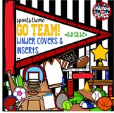 Sports Themed Binder Covers and Inserts *editable*
