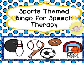 Sports Themed Bingo for Speech Therapy