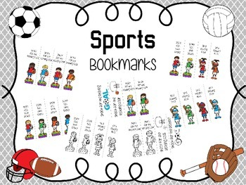Sports Themed Bookmarks