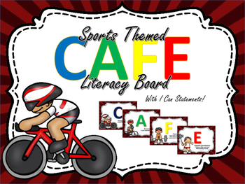 Sports Themed CAFE Literacy Bulletin Board Display