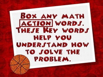 Sports Themed C.U.B.E.S. Math Problem Solving Strategy