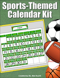 Sports-Themed Calendar Kit