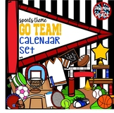 Sports Themed Calendar Labels Set