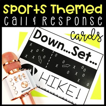 Sports Themed Call & Response Behavior Management Cards