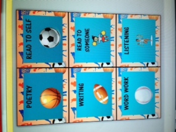 Sports Themed Center Tags