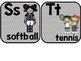Sports Themed Classroom Alphabet with Chevron