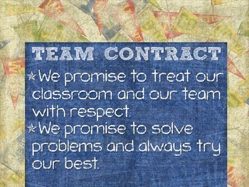 Sports Themed Classroom Contract