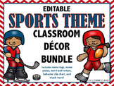 Sports Themed Classroom Decor EDITABLE