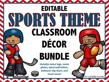 Sports Themed Classroom Decor EDITABLE