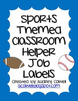 Sports Themed Classroom Helper Jobs
