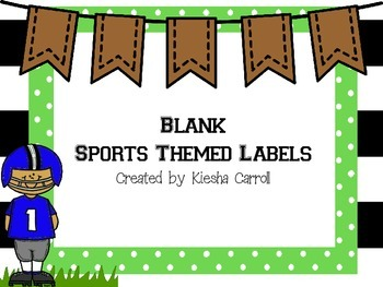 Sports Themed Classroom Labels