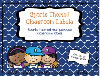 Sports Themed Classroom Labels - Edible