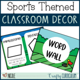 Sports Themed Classroom Posters, Label, and Decor