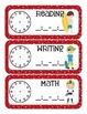 Sports Themed Classroom Schedule