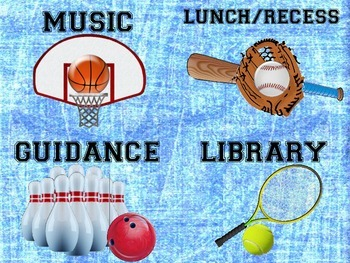 Sports Themed Classroom Signs