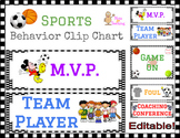 Sports Themed Clip Chart
