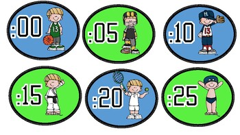 Sports Themed Clock numbers