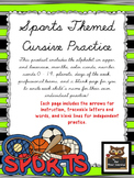 Sports Themed Cursive Handwriting Practice Fun!