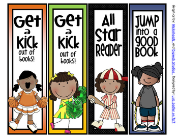Sports Themed DARK SKIN CHILDREN Bookmarks - 16 Designs