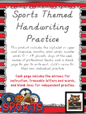 Sports Themed D'Nealian Handwriting Practice