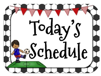 Sports Themed Daily Schedule-Analog l Digital